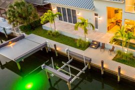 boat dock off home deck in naples florida | Naples Marine Construction - Naples, Florida
