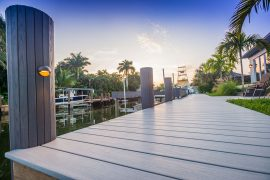 boat dock with close up pilings | Naples Marine Construction - Naples, Florida