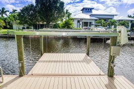 boat dock on canal | Naples Marine Construction - Naples, Florida