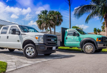 Naples Marine Construction company trucks | Naples Marine Construction - Naples, Florida